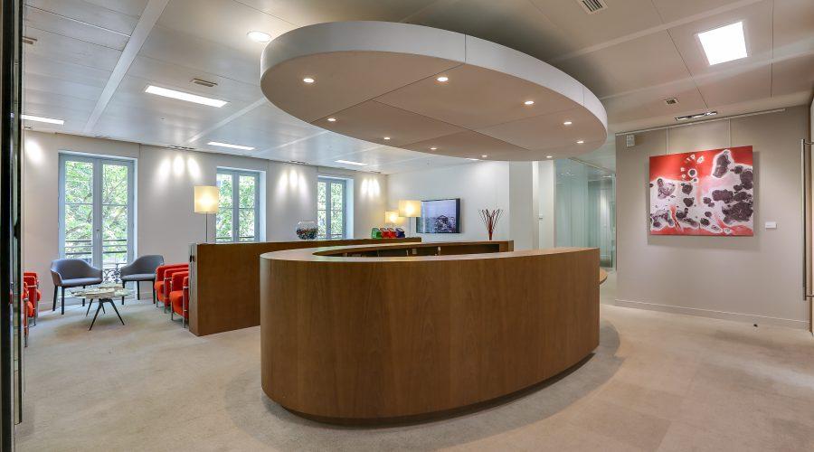 Hall d'accueil bureaux paris