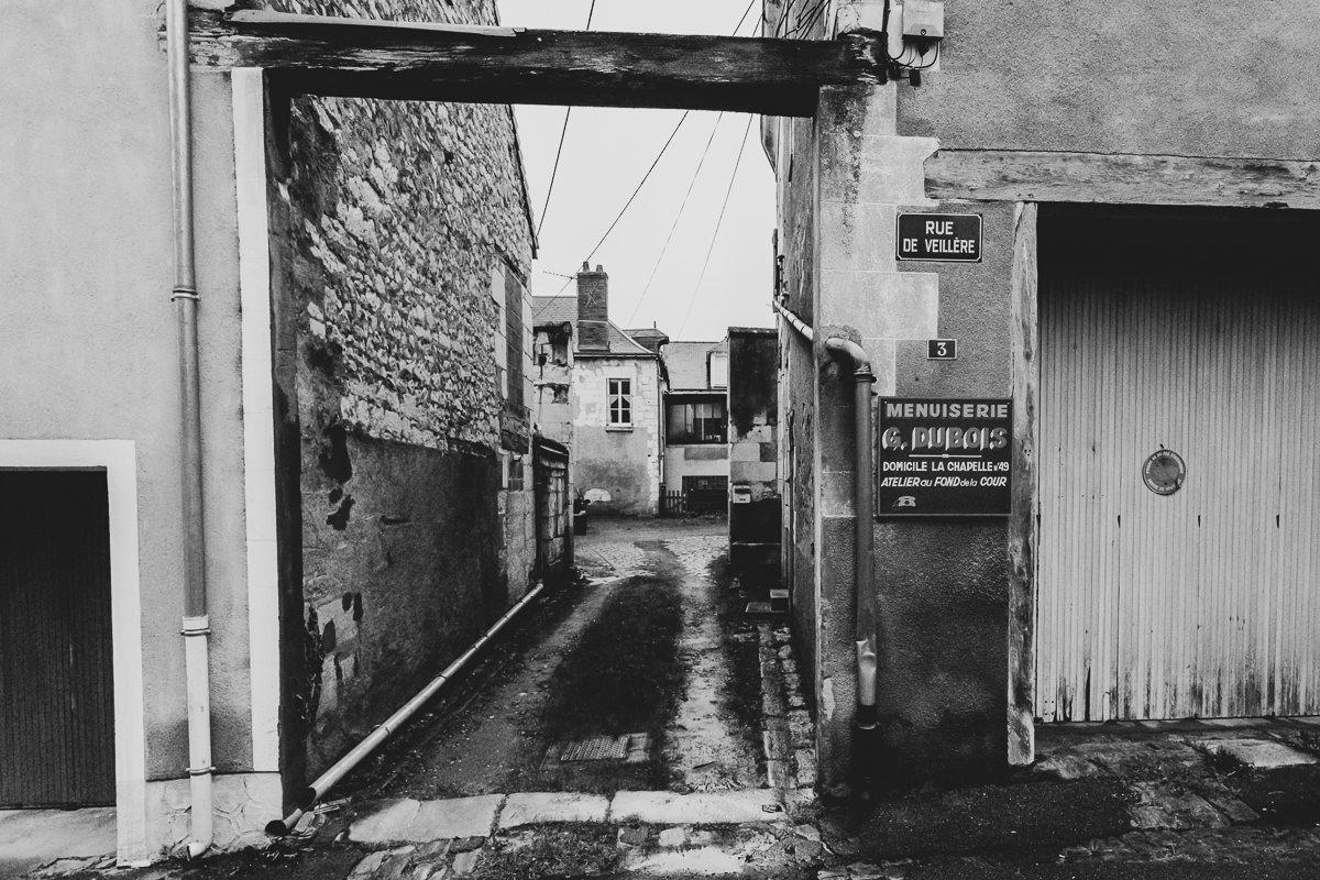 Photo noir et blanc d'une impasse