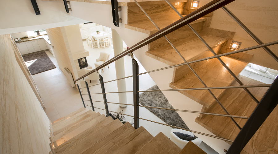 Escalier bois béton